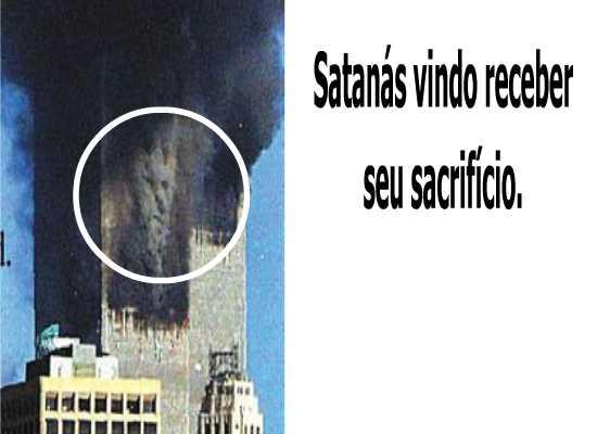 O rosto do diabo apareceu para receber seu sacrifício.